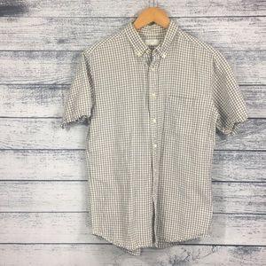 Uniqlo Linen Cotton Blend Casual Button Down Shirt